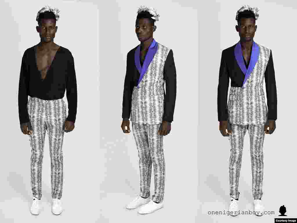 """""""Orange culture is a men's wear label,"""" says designer Oke-Lawal. """"… and it's the quirkiest men's label you can think of in Africa."""" (Courtesy Orange Culture)"""