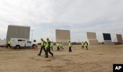 Prototipos del muro fronterizo que la administración Trump quiere levantar en la frontera sur del país.