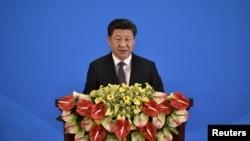 시진핑 중국 국가주석이 지난달 28일 베이징에서 열린 '제5차 아시아 교류 및 신뢰구축회의(CICA)' 개막식에서 연설하고 있다. (자료사진)