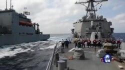美军舰巡航南中国海,中方强烈谴责
