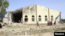 Nhà thờ Thánh Rita ở Malali, thuộc trong thành phố Kaduna của Nigeria bị hư hại sau vụ tấn công bằng bom