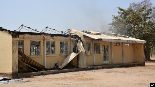 The remains of the  burned out  Federal Government College  in Buni Yadi, Nigeria, Feb. 25, 2014.