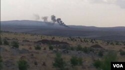 IŞİD tankını tahrip eden PYD'ye bağlı güçler