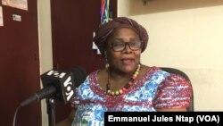 Elise Pierrette Mpoung Meno, co- fondatrice de l'Association de lutte des violences faites aux femmes à Yaoundé, Cameroun, le 3mars 2019. (VOA/Emmanuel Jules Ntap)