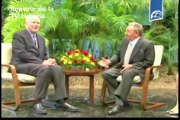 Legisladores recibidos por Raúl Castro