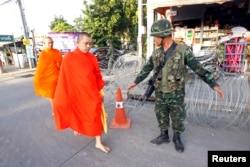 O exército tailandês controla Banguecoque e arredores