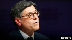 Jack Lew, U.S. Secretary of the Treasury, attends the session 'Global Financial Priorities for 2016' at the annual meeting of the World Economic Forum (WEF) in Davos, Switzerland, Jan. 21, 2016.