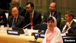 Malala Yousufzai devant l'Assemblée Générale de l'Onu à New York, le 12 juillet 2013 (Reuters/Brendan McDermid)
