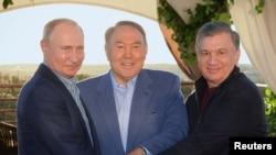 Vladimir Putin, Nursultan Nazarbayev, Shavkat Mirziyoyev