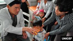 유엔아동기금 UNICEF가 최근 발표한 '2017 북한 어린이와 여성 상황 분석 보고서'에 실린 사진.