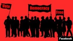 Demokratik Təşəbbüslər İnstitutunun plakatı