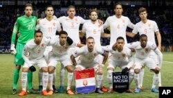 Tim sepakbola Belanda. Pria Belanda ada di peringkat teratas dalam hal tinggi badan, menurut hasil penelitian.