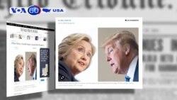 Ý kiến cử tri: Bà Clinton dẫn trước ông Trump 2 điểm phần trăm (VOA60)