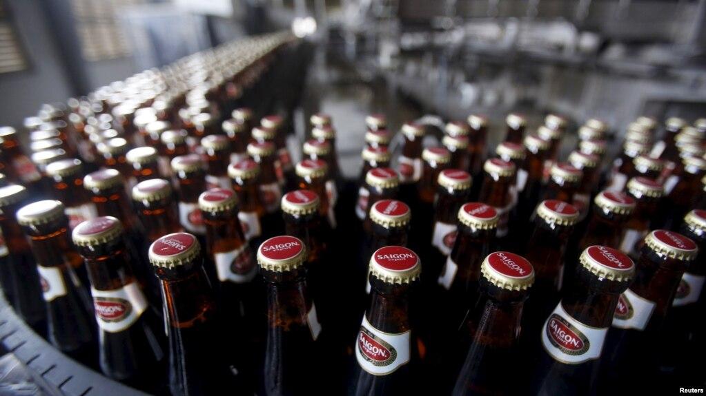 """Sản phẩm bia Sài Gòn của Sabeco là một """"thương hiệu quốc gia"""" của Việt Nam."""