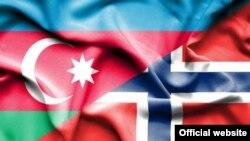 Azərbaycan və Norveç bayrağı