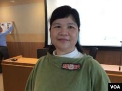 前香港记者协会主席麦燕庭(美国之音记者 申华拍摄)