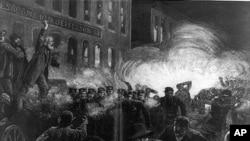 一枚炸弹引起干草市场广场骚乱