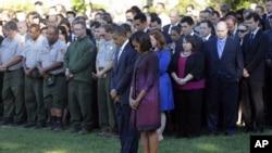 Le président Obama et son épouse Michelle à la Maison-Blanche