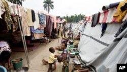 Campo de refugiados em Duekoue ao oeste da Costa do Marfim alberga mais de 28 mil pessoas
