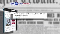 VOA60 Elections - USA Today: Sanders calls for a debate against Trump
