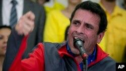Henrique Capriles, chef de file de l'opposition vénézuelienne