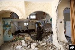 Căn nhà ở thành phố Bờ Tây Hebron của Ehab Maswada, một người đàn ông Palestine đã đâm một thường dân Israel, đã bị quân đội Israel phá hủy hôm 31/3/2016.