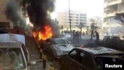 19일 레바논 주재 이란 대사관 인근에서 연쇄 폭발이 발생해, 7명이 숨졌다.