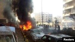 레바논 주재 이란 대사관 근처 폭발현장의 모습.(자료사진)