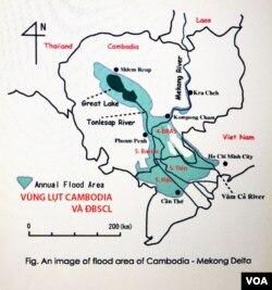 Vùng Lụt Cambodia và Đồng Bằng Sông Cửu Long [nguồn: Akira Yamashita, Department of Environment and Natural Resources Management, Cần Thơ University, Vietnam]
