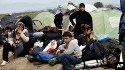 پناهجویان در مرز یونان و مقدونیه