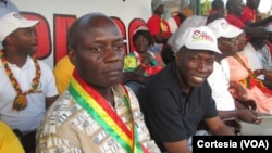 Le président José Mário Vaz, de la Guinée-Bissau et son ancien Premier ministre Domingos Simões
