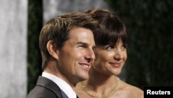 Actor Tom Cruise and his wife, actress Katie Holmes