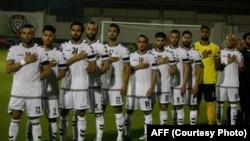 ملی پوشان فوتبال افغانستان، به خاطر رویداد های مرگبار افغانستان، تکۀ سیاه بر بازو بسته بودند.