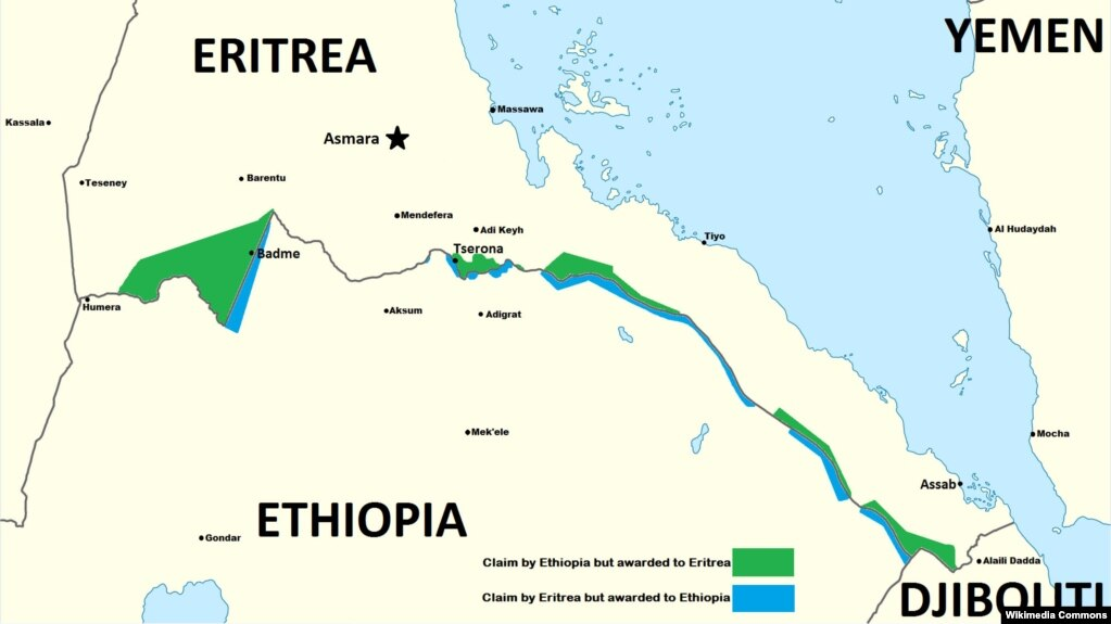 2 eritrean pilots defect to ethiopia with jets group says a map delineates past areas of conflict between ethiopia and eritrea gumiabroncs Gallery