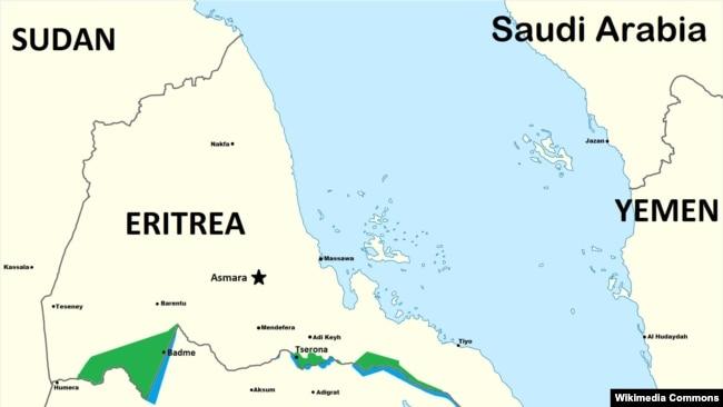 Heavy Fighting Reported Along EthiopiaEritrea Border - Eritrea map