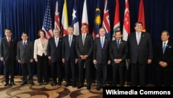 Các nhà lãnh đạo của các nước thành viên và các nước đang Đang đàm phán gặp nhau tại một hội nghị thượng đỉnh của TPP năm 2010.