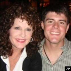 Becky Whetstone (left) with her son, US Marine Lance Corporal Benjamin Whetstone Schmidt, who died in October 2011.