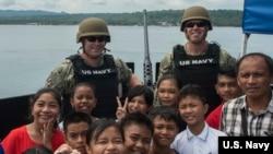 """""""蒙哥馬利號""""戰艦(USS Montgomery)訪問菲律賓。(美國海軍2019年6月30日)"""