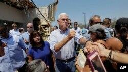 Nënpresidenci Mike Pence në Rockport të Teksasit