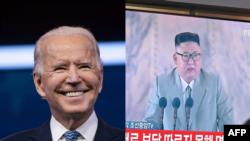 조 바이든 미국 대통령 당선인과 김정은 북한 국무위원장.