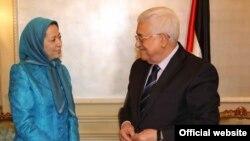 محمود عباس رئیس تشکیلات خودگردان فلسطینی با مریم رجوی سازمان مجاهدین دیدار کرد