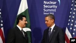美國總統奧巴馬與巴基斯坦總理吉拉尼3月27日在首爾會晤