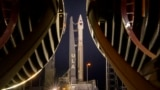 This photo provided by NASA shows a United Launch Alliance Atlas V rocket with the Lucy spacecraft aboard Oct. 14, 2021, at Cape Canaveral Space Force Station in Florida.