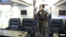 Tech Sergeant Vanessa Schook, who was born in Colombia in South America, is a flight attendant at Andrews who became a citizen after joining the military.