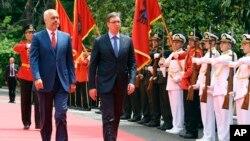 Prošlogodišnji susret premijera Albanije i Srbije, Edija Rame i Aleksandra Vučića, u Beogradu