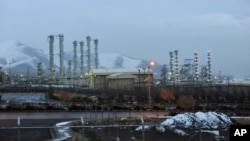 FILE - This Jan. 15, 2011, photo shows the heavy water nuclear facility near Arak, Iran.