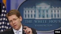 Juru bicara Gedung Putih, Jay Carney (foto: dok).
