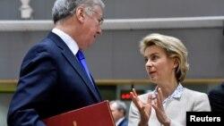 Ursula von der Leyen, ministre allemande de la Défense, lors d'une réunion européenne à Bruxelles, Belgique, le 6 mars 2017.