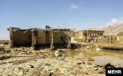 خسارت سیل در شهر پلدختر در استان لرستان
