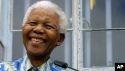 The late former South African President Nelson Mandela.